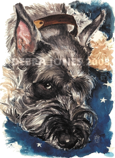 Greta watercolor Debra Jones